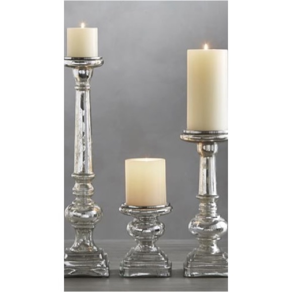 Pottery Barn Mercury Glass Pillar Candle Holder